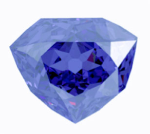 which diamond in shaped carats rough life antoinette pin old diamonds marie blue carat weighing tavernier french the heart bought