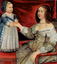 Ann of Austria, mother of Louis XIV with young king