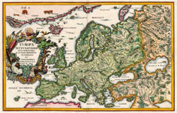 Map of Europe by J. B. Tavernier